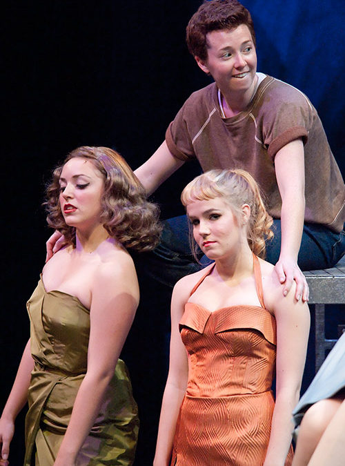 Anybodys snuggling to some Jet Girls – West Side Story at PCPA